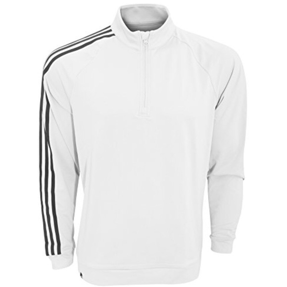 Adidas Golf 14 zip pull over White large